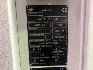 Фрезерный станок Mikron HPM 800 U-13