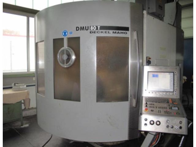 больше рисунков Фрезерный станок DMG DMU 80 T Turbinenschaufeln/fanblades
